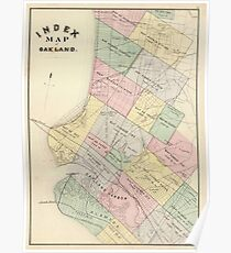 Vintage oakland map posters redbubble vintage map of oakland california 1878 poster publicscrutiny Image collections