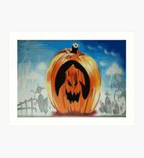Halloween Pumpkin Graffiti Spraypainted 2 Art Print