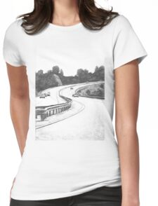 the Highway Womens Fitted T-Shirt