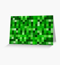 Minecraft greeting cards redbubble 8 bit green greeting card m4hsunfo