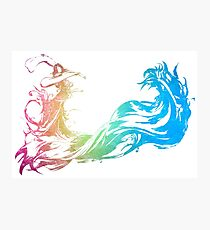 °FINAL FANTASY° Final Fantasy X Rainbow Logo Photographic Print