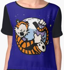 The Calvin and Hobbes Firefox Chiffon Top