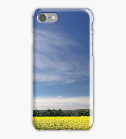 Sun Halo Over Canola Field iPhone Case/Skin