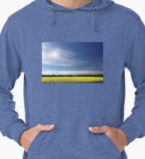 Sun Halo Over Canola Field Lightweight Hoodie