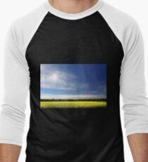 Sun Halo Over Canola Field Men's Baseball ¾ T-Shirt