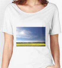 Sun Halo Over Canola Field Women's Relaxed Fit T-Shirt