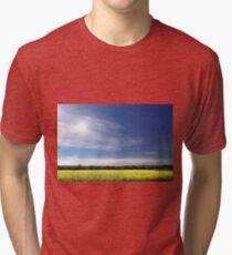 Sun Halo Over Canola Field Tri-blend T-Shirt
