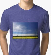 Sun Halo Over Canola Field Tri-blend T-Shirt