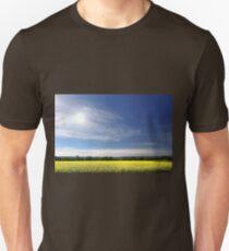 Sun Halo Over Canola Field Unisex T-Shirt