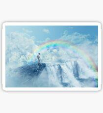 heaven's waterfall Sticker