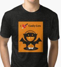 I Heart Candy Corn Tri-blend T-Shirt