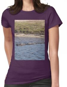 Alligator in the Water Womens Fitted T-Shirt