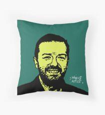 Ricky Gervais Throw Pillow