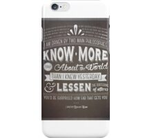 Philosophy iPhone Case/Skin