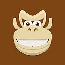 Donkey Kong face by gingerraccoon