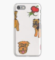 Three Welsh Terriers with Red iPhone Case/Skin