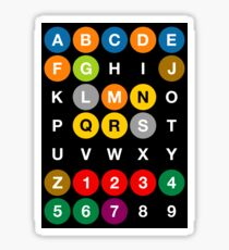 NYC Subway Letters Sticker