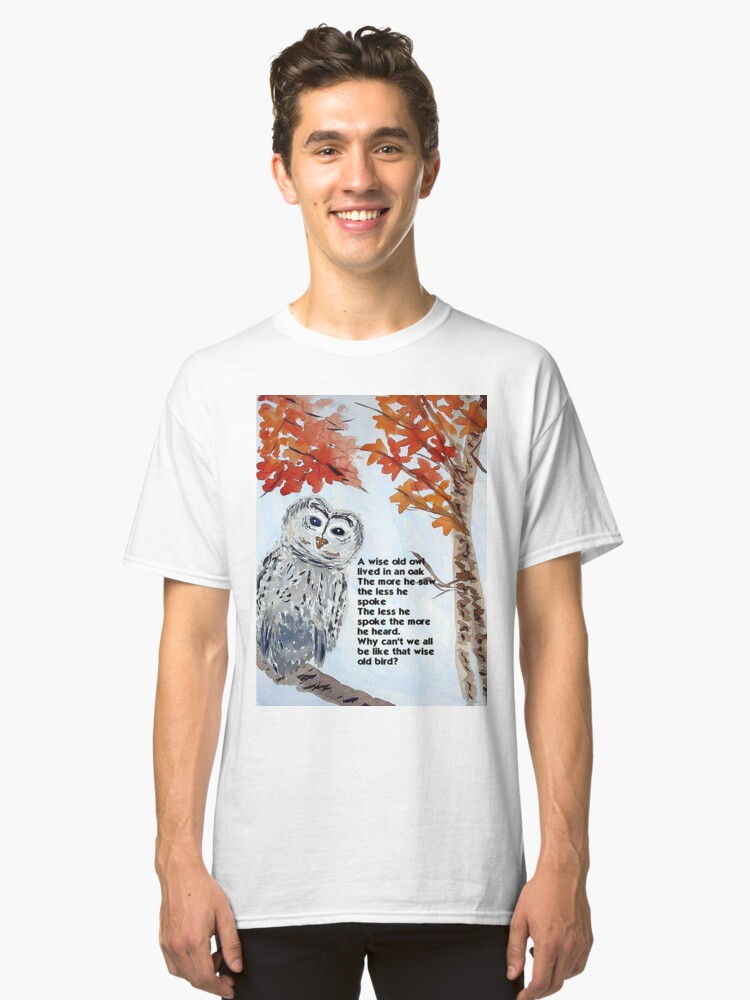 Alternate view of Wise Owl Classic T-Shirt