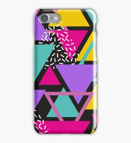 Memphis Triangles iPhone Case/Skin
