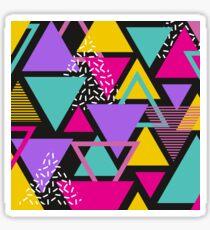 Memphis Triangles Sticker