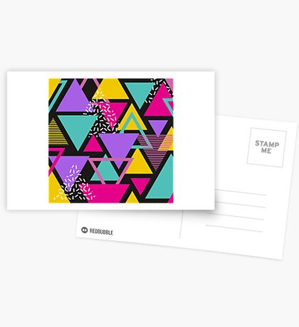 Memphis Triangles Greeting Card