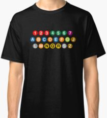 New York Subway Lines Classic T-Shirt