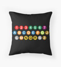 New York Subway Lines Throw Pillow