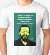 Ricky Gervais Atheist Christmas Unisex T-Shirt