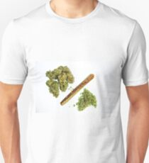 Fraction -  High Quality Cannabis Art Unisex T-Shirt