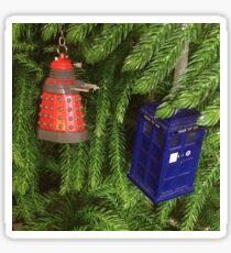 Merry Whovian Christmas Sticker