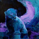 Polar Bear in the Purple Light by Christine Montague