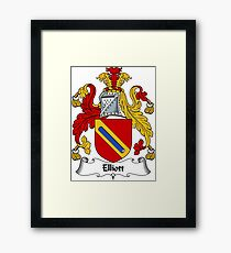 Elliott Coat of Arms / Elliott Family Crest Framed Print