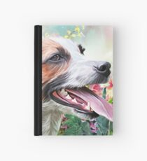 Jack Russell Terrier Painting  Hardcover Journal