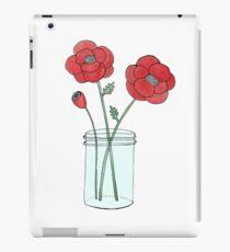 Poppies in a Jar iPad Case/Skin