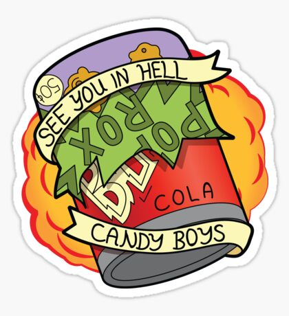 Candy Boys - The Simpsons Sticker