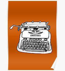 Hermes Typewriter Poster