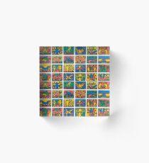 Haring Icon Pattern Acrylic Block