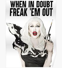 SHARON NEEDLES - WHEN IN DOUBT FREAK 'EM OUT Poster