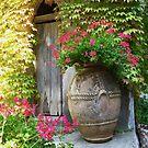 Flower Urn by Christine  Wilson