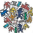 Haring Pop Art Homage (Colour) by BadBehaviour