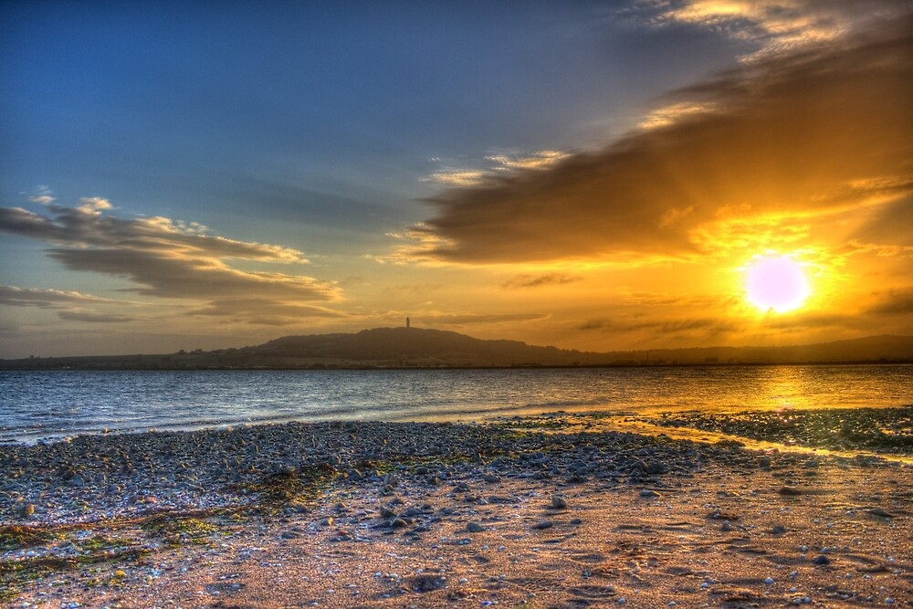 Sunset over the Lough by rosscaughers