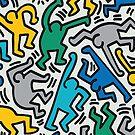 Haring Homage : Tropical by BadBehaviour