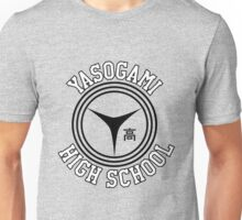 Yasogami Emblem with Text (Black) Unisex T-Shirt