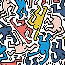 Haring Homage : Outback Sky by BadBehaviour