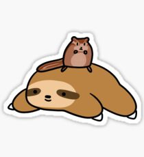 Sloth and Chipmunk Sticker