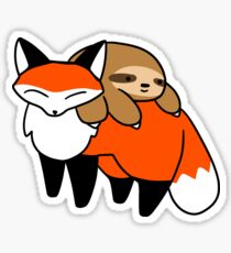 Sloth and Fox Sticker