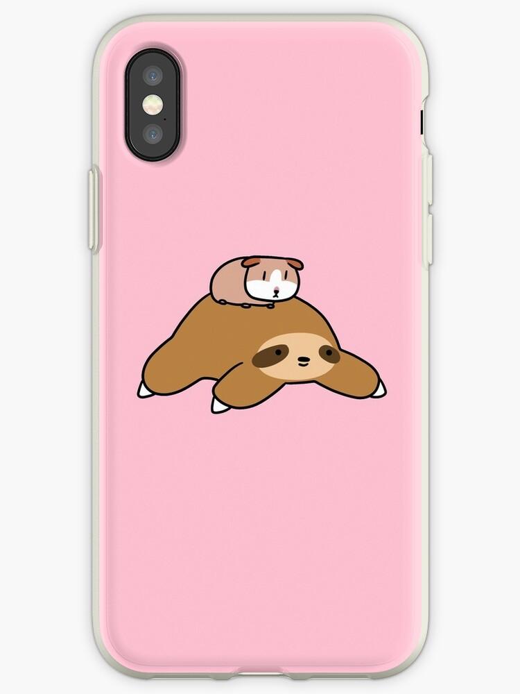 brand new 15688 ac604 'Sloth and Guinea Pig' iPhone Case by SaradaBoru