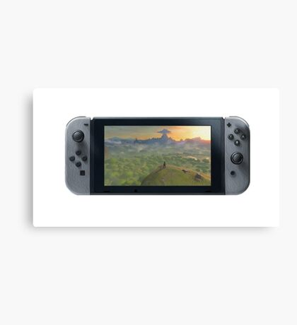 Nintendo Switch Controller (Oil Paint Edition) Canvas Print