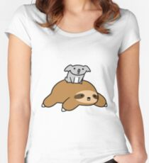 Koala and Sloth Women's Fitted Scoop T-Shirt