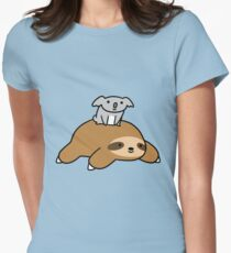 Koala and Sloth Women's Fitted T-Shirt